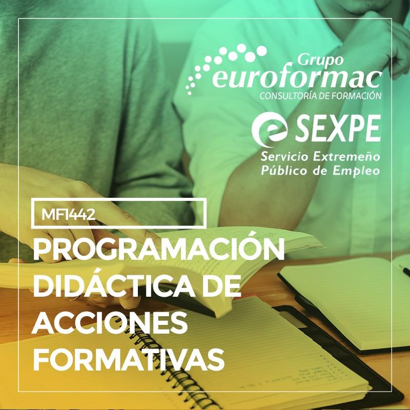 (MF1442_3) PROGRAMACIÓN DIDÁCTICA DE ACCIONES FORMATIVAS PARA EL EMPLEO