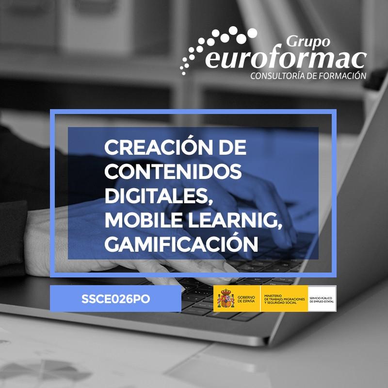 CREACIÓN DE CONTENIDOS DIGITALES, MOBILE LEARNING, GAMIFICACIÓN