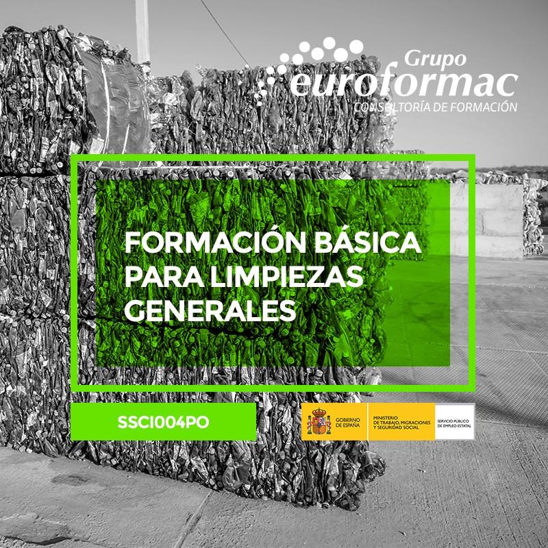 FORMACIÓN BÁSICA PARA LIMPIEZAS GENERALES