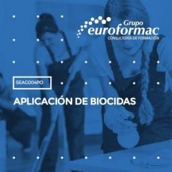 SEAG004PO - APLICACIÓN DE BIOCIDAS--PRESENCIAL  40 horas