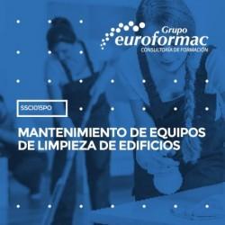 SSCI015PO - MANTENIMIENTO DE EQUIPOS DE LIMPIEZA DE EDIFICIOS--PRESENCIAL  15 horas