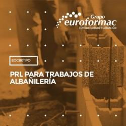 EOCB011PO - PRL PARA TRABAJOS DE ALBAÑILERÍA--PRESENCIAL  20 horas