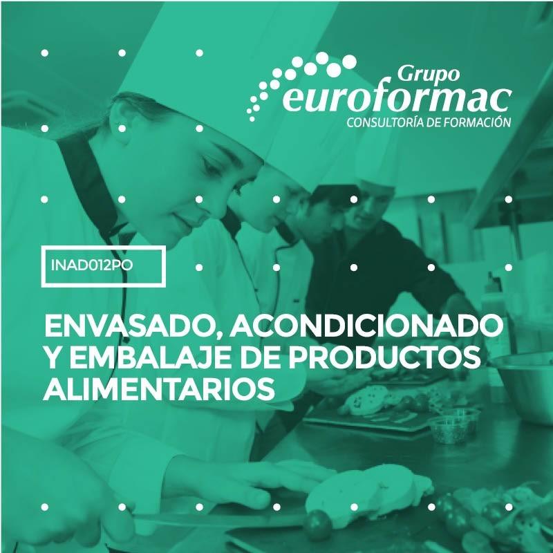 ENVASADO, ACONDICIONADO Y EMBALAJE DE PRODUCTOS ALIMENTARIOS
