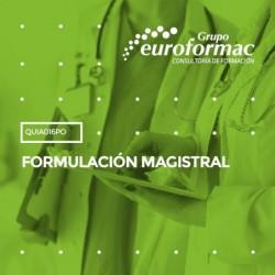 QUIA016PO - FORMULACIÓN MAGISTRAL--ONLINE  100 horas