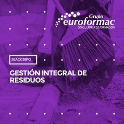 SEAG028PO - GESTIÓN INTEGRAL DE RESIDUOS--ONLINE  200 horas