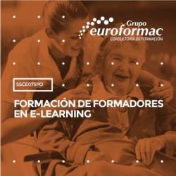 SSCE075PO - FORMACIÓN DE FORMADORES EN E-LEARNING--ONLINE  120 horas