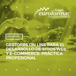 ADGG032PO - GESTORES ON LINE PARA EL DESARROLLO DE SITIOS WEB Y E-COMMERCE: PRÁCTICA PROFESIONAL--ONLINE  200 horas