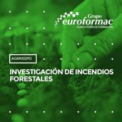 AGAR002PO - INVESTIGACIÓN DE INCENDIOS FORESTALES--ONLINE  75 horas