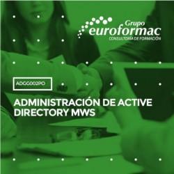 ADGG002PO - ADMINISTRACIÓN DE ACTIVE DIRECTORY MWS--ONLINE  28 horas