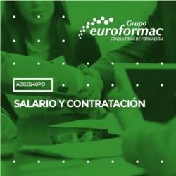 ADGD240PO - SALARIO Y CONTRATACIÓN--ONLINE  100 horas