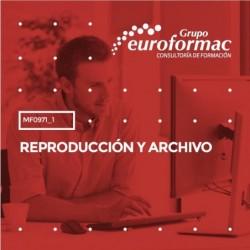 MF0971_1 - REPRODUCCIÓN Y ARCHIVO--PRESENCIAL  120 horas