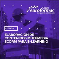 IFCT047PO - ELABORACIÓN DE CONTENIDOS MULTIMEDIA SCORM PARA E-LEARNING--ONLINE  60 horas