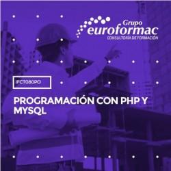 IFCT080PO - PROGRAMACIÓN CON PHP Y MYSQL--ONLINE  40 horas