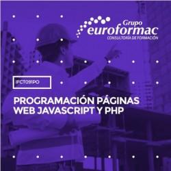 IFCT091PO - PROGRAMACIÓN PÁGINAS WEB JAVASCRIPT Y PHP--ONLINE  65 horas