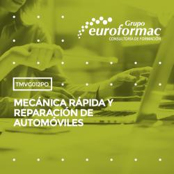 TMVG012 - MECÁNICA RÁPIDA Y REPARACIÓN DE AUTOMÓVILES--PRESENCIAL  40 horas