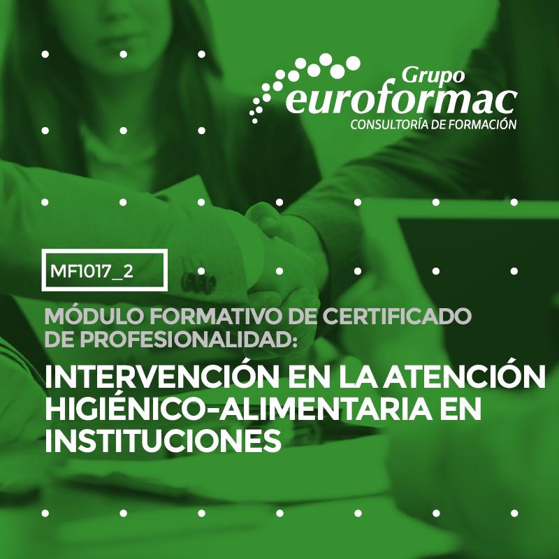 INTERVENCIÓN EN LA ATENCIÓN HIGIÉNICO-ALIMENTARIA EN INSTITUCIONES